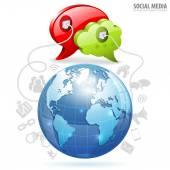 Social Media Concept — Vector de stock