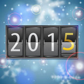 New Year 2015 on Mechanical Timetable — Stock Vector
