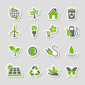 Environment Icons Sticker Set — Stock Vector