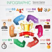 Soccer Infographics — Stock Vector