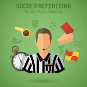 Soccer Refereeing — Stock Vector