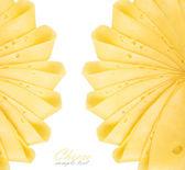 Cheese slices  on white — Stock Photo