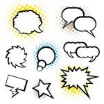 Set of speech bubble, Pop Art style — Stock Vector #62020719