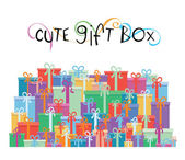 Gift boxes for your promotion design - vector illustration — Stockvektor