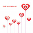 Valentines day card vector — Stock Vector #66146079