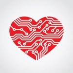 Heart shape for technology — Stock Vector #66146375