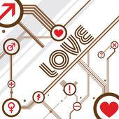 Amor projeto vector — Vetor de Stock