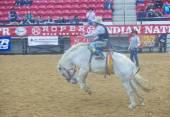 Indian national finals rodeo — Stock Photo