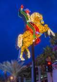 Las Vegas , The Hacienda Horse and Rider sign — Stock Photo