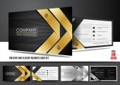 Creative and elegant business card set — Stock Vector