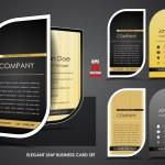 Elegant leaf business card set — Stock Vector #54894887