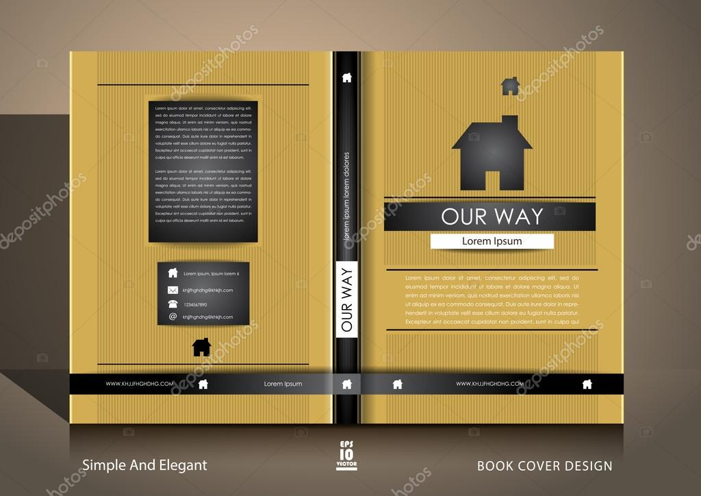 Book Cover Architecture Gallery : Book cover design in gold and black — stock vector