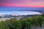 Station balnéaire sur coucher de soleil — Photo
