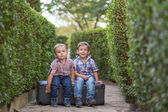 Two little kids — Stock Photo