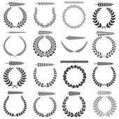 Laurel wreaths collection — Stock Vector