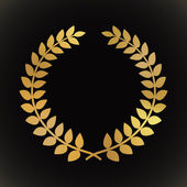 Golden laurel wreath — Stock Vector