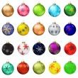 Christmas balls collection — Stock Vector #59557327