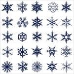 Snowflake set — Stock Photo #63593423