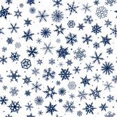Sömlös snöflingor — Stockfoto