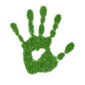 Grass hand — Stock Vector