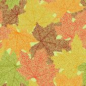 Modèle sans couture automne — Vecteur