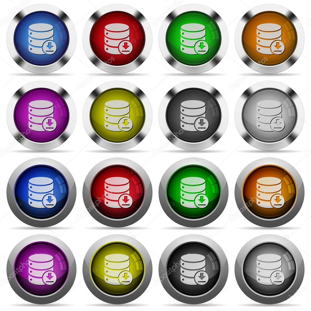 Backup database button set — Stock Vector © renegadehomie #111503332