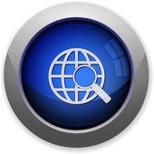Web search button — Stock Vector
