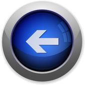 Left arrow button — Stock Vector