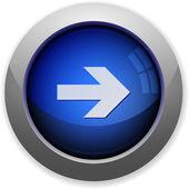 Right arrow button — Stock Vector