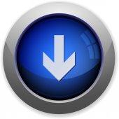 Down arrow button — Stock Vector