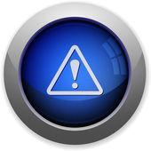 Warning button — Stock Vector