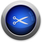 Cut button — Stock Vector