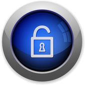 Unlock button — Stock Vector