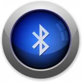 Bluetooth button — Stock Vector