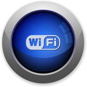 Wifi button — Stock Vector