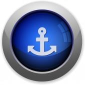 Anchor button — Stock Vector