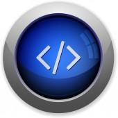 Code button — Stock Vector