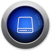Hard drive button — Stock Vector
