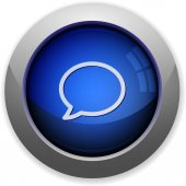 Chat button — Stock Vector