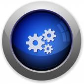 Gears button — Stock Vector