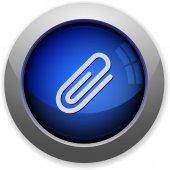 Attachment button — Stock Vector