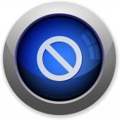 Blocked button — Stock Vector