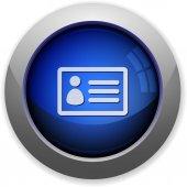 ID card button — Stock Vector