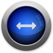 Horizontal resize button — Stock Vector