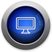 Monitor button — Stock Vector