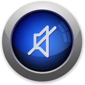 Mute button — Stock Vector