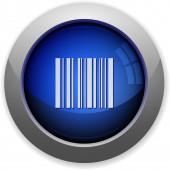 Barcode button — Stock Vector
