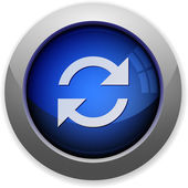 Refresh button — Stock Vector