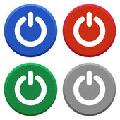 Power off icon set — Stock Vector
