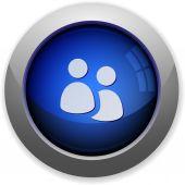 Group button — Stock Vector